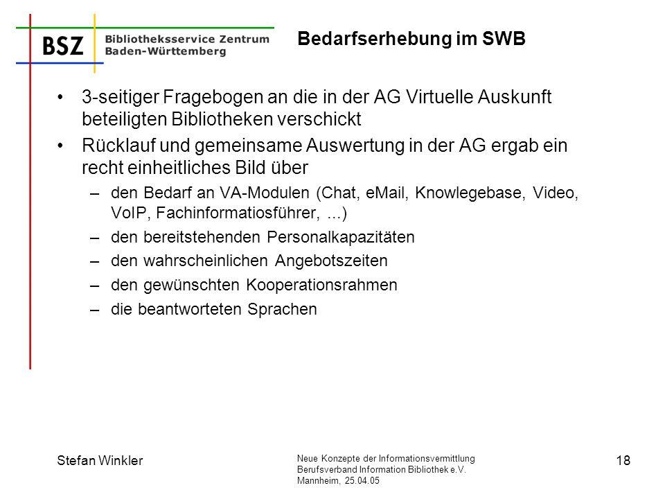 Bedarfserhebung im SWB