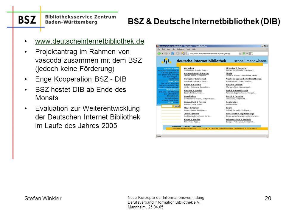 BSZ & Deutsche Internetbibliothek (DIB)