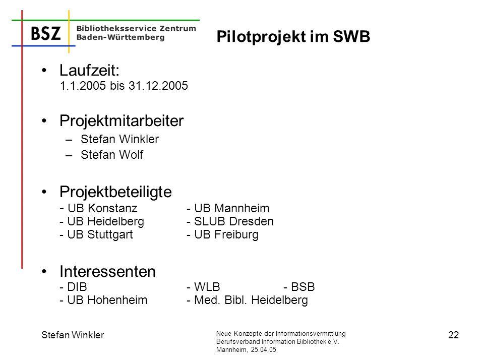 Interessenten - DIB - WLB - BSB - UB Hohenheim - Med. Bibl. Heidelberg