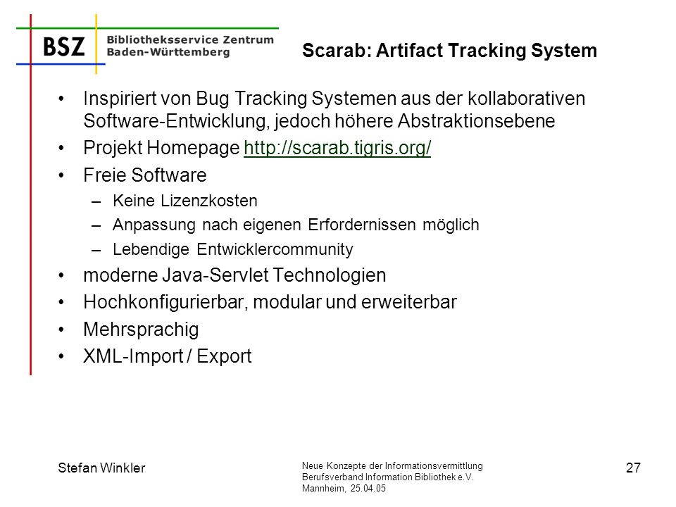 Scarab: Artifact Tracking System