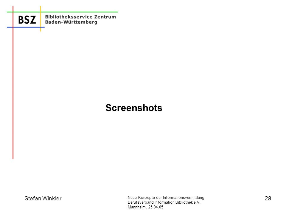 Screenshots Stefan Winkler