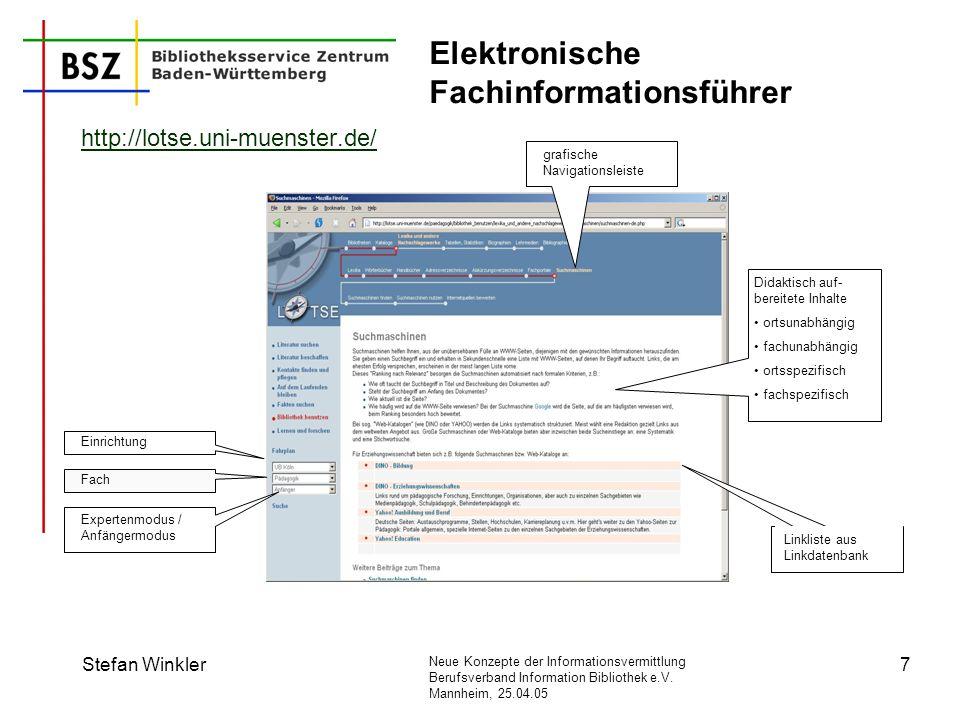 Elektronische Fachinformationsführer