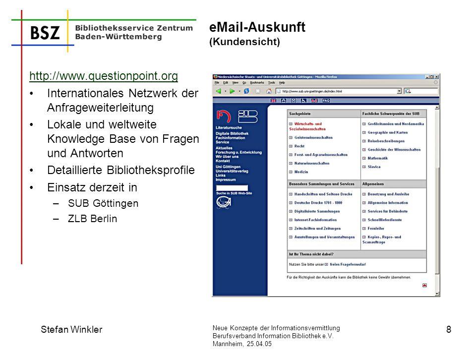 eMail-Auskunft (Kundensicht)