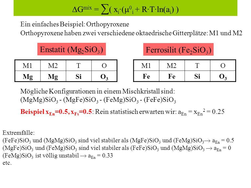 ∆Gmix = ∑( xi·(0i + R·T·ln(ai) )