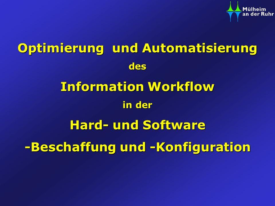 Optimierung und Automatisierung -Beschaffung und -Konfiguration