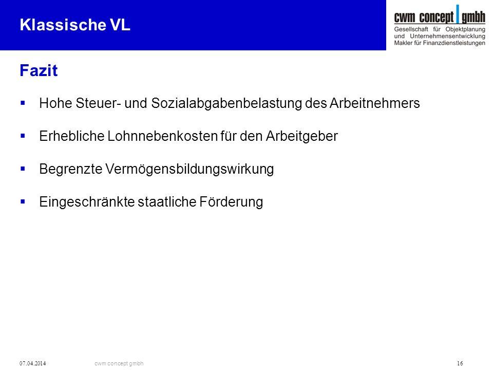 Klassische VL Fazit. Hohe Steuer- und Sozialabgabenbelastung des Arbeitnehmers. Erhebliche Lohnnebenkosten für den Arbeitgeber.
