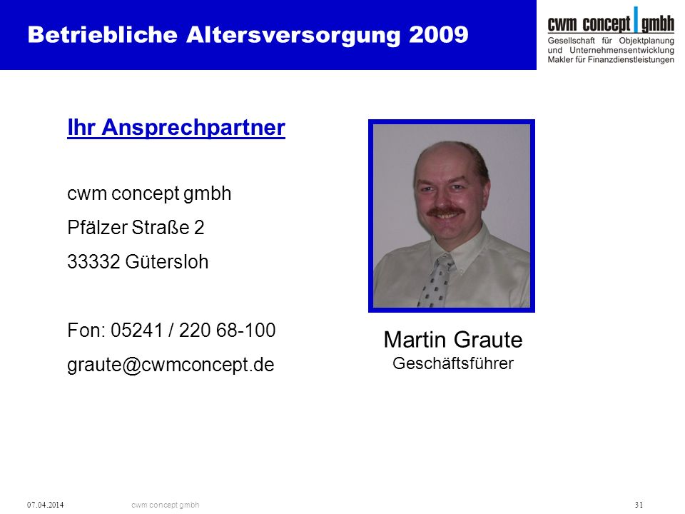 Martin Graute Geschäftsführer