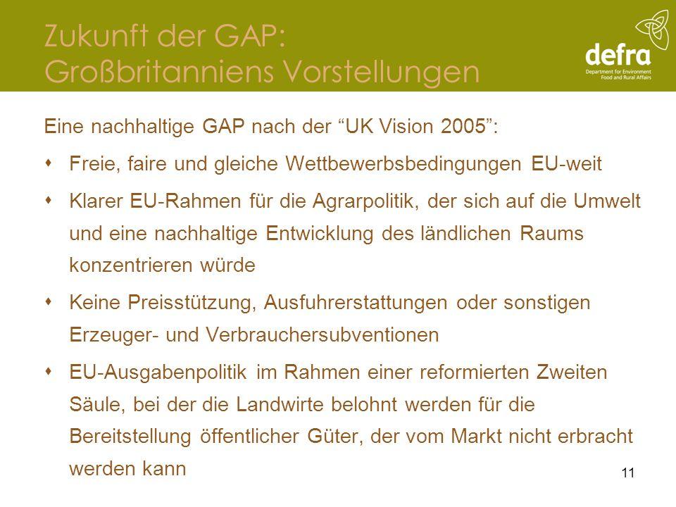 Zukunft der GAP: Großbritanniens Vorstellungen