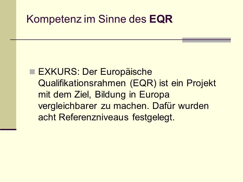 Kompetenz im Sinne des EQR