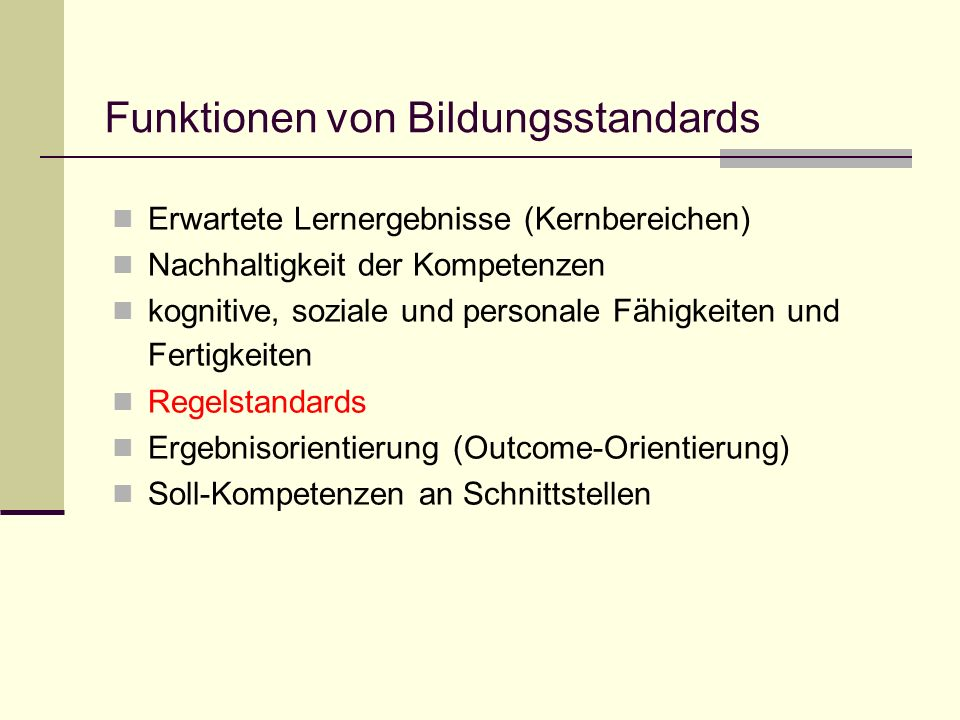 Funktionen von Bildungsstandards