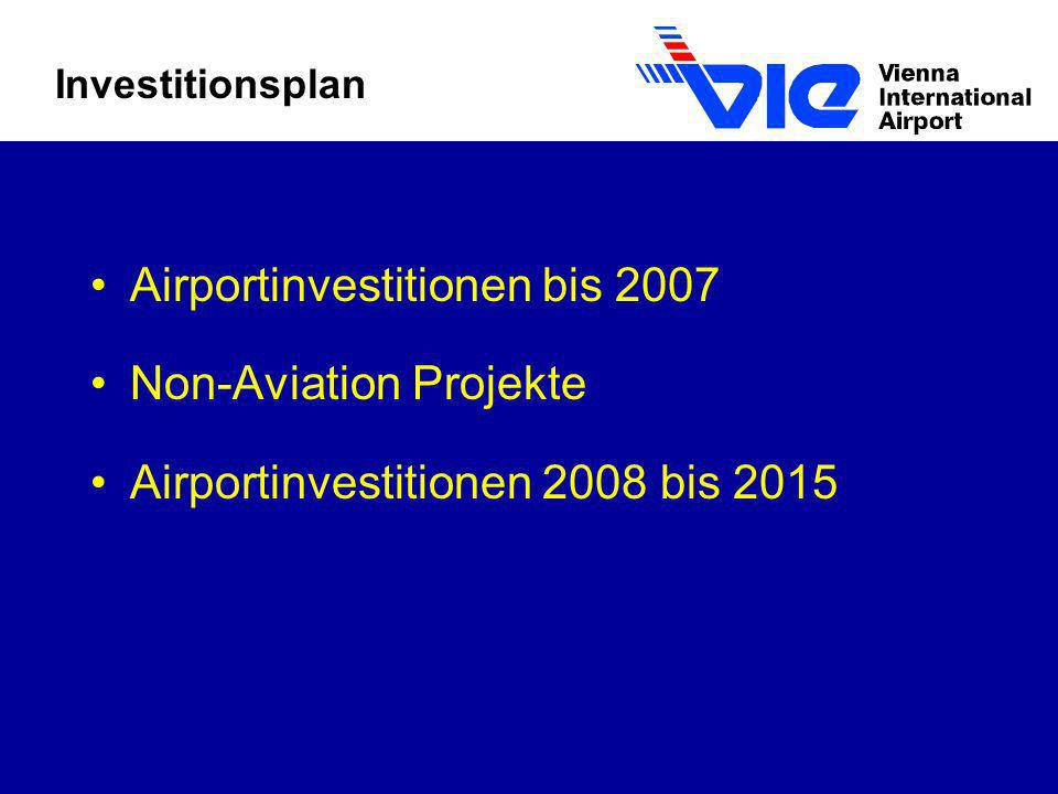 Airportinvestitionen bis 2007 Non-Aviation Projekte