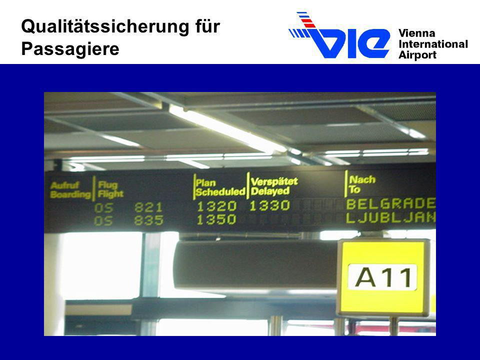 Qualitätssicherung für Passagiere