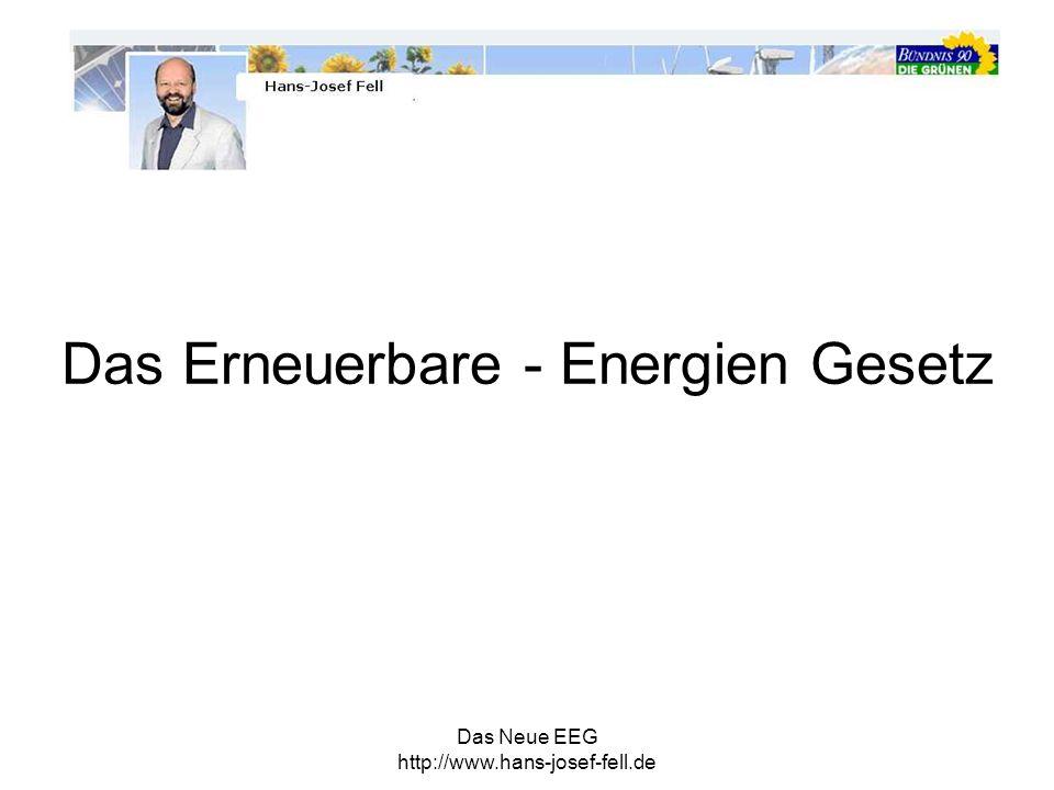 Das Erneuerbare - Energien Gesetz
