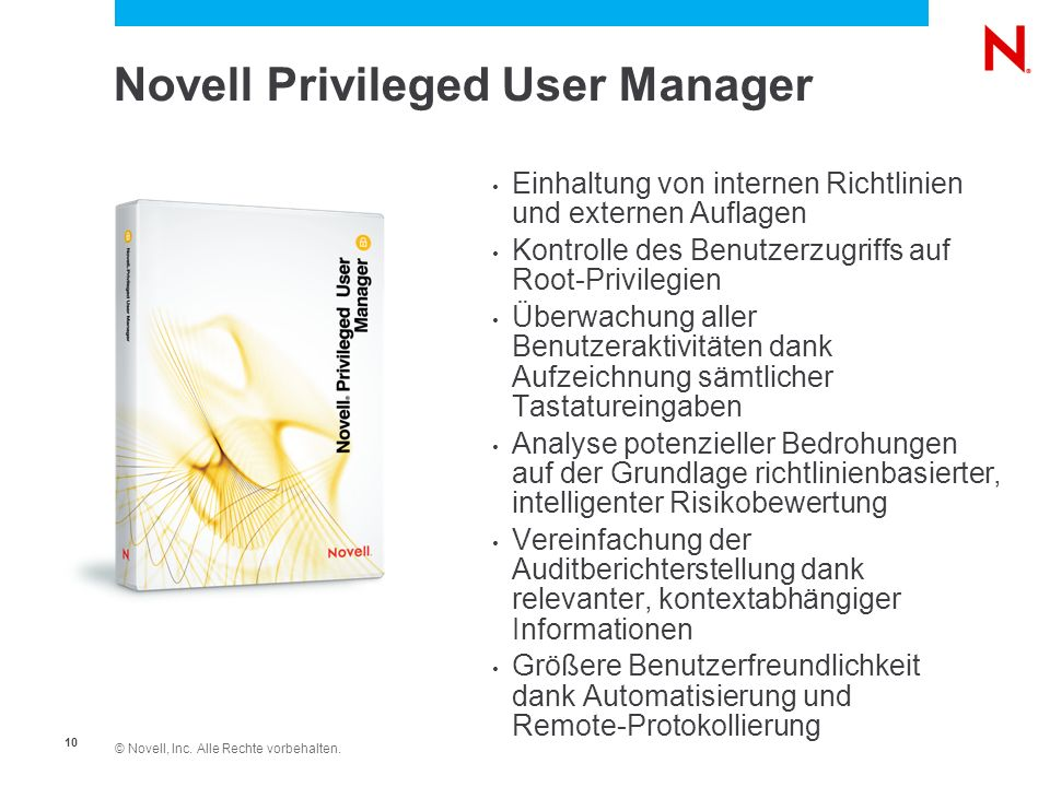 Novell Privileged User Manager