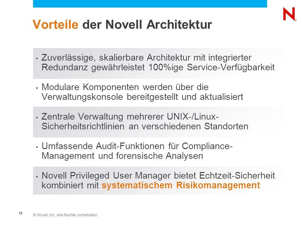 Vorteile der Novell Architektur