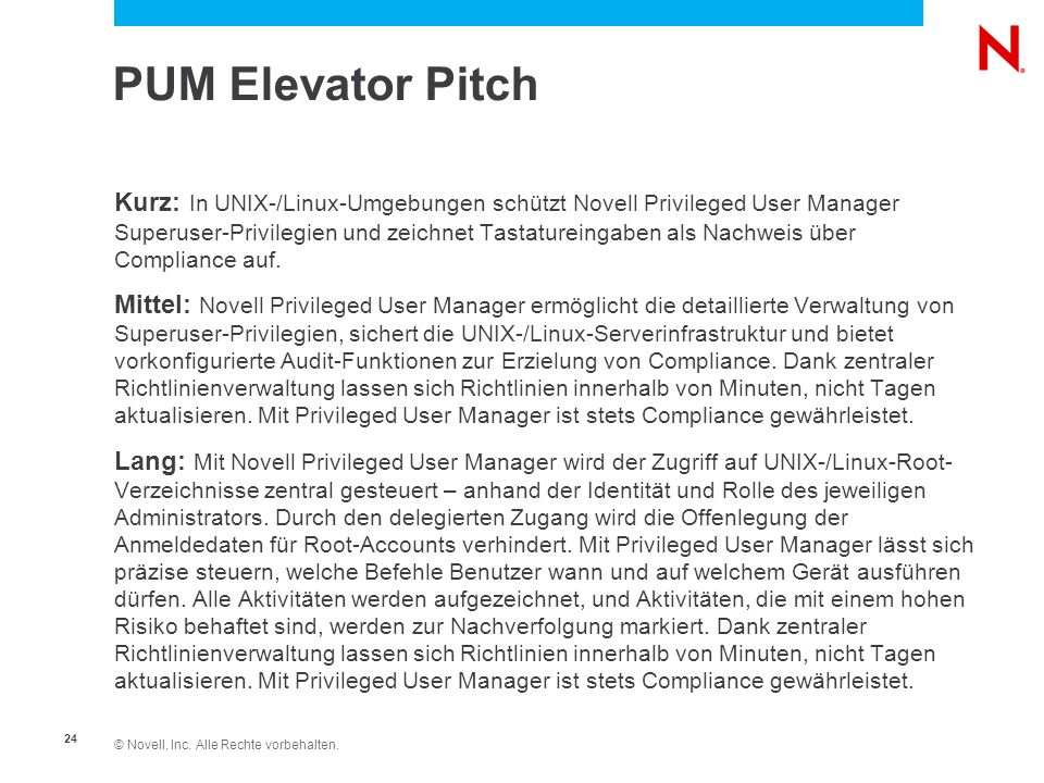 PUM Elevator Pitch