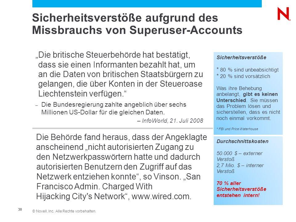 Sicherheitsverstöße aufgrund des Missbrauchs von Superuser-Accounts