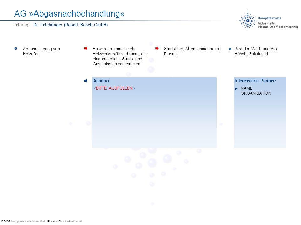 AG »Abgasnachbehandlung«