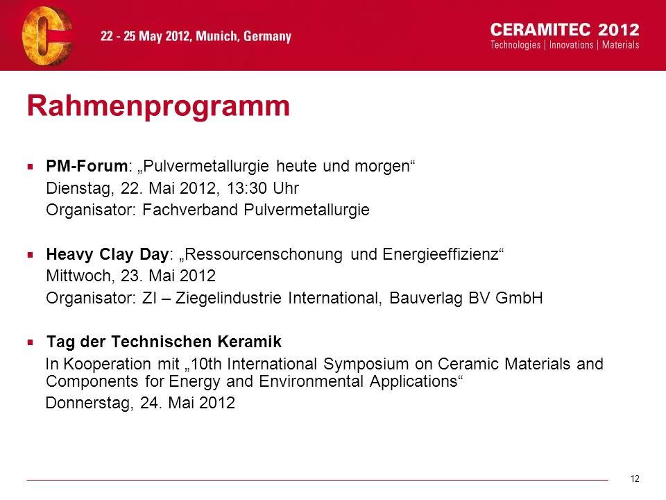 """Rahmenprogramm PM-Forum: """"Pulvermetallurgie heute und morgen"""