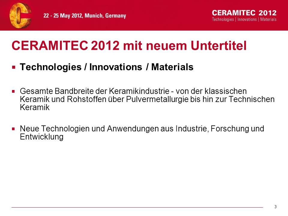 CERAMITEC 2012 mit neuem Untertitel