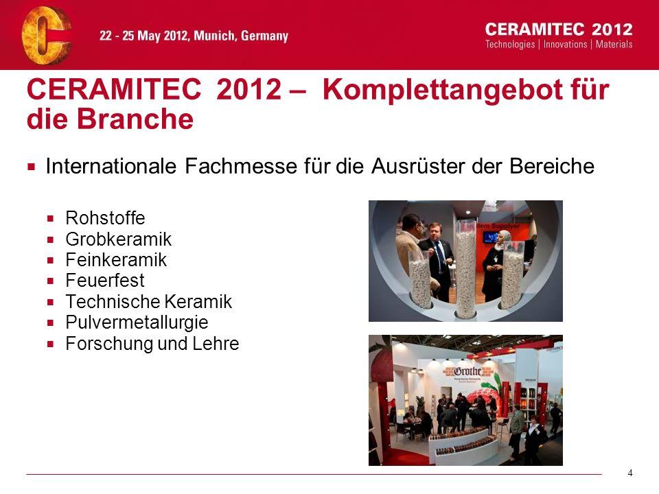 CERAMITEC 2012 – Komplettangebot für die Branche
