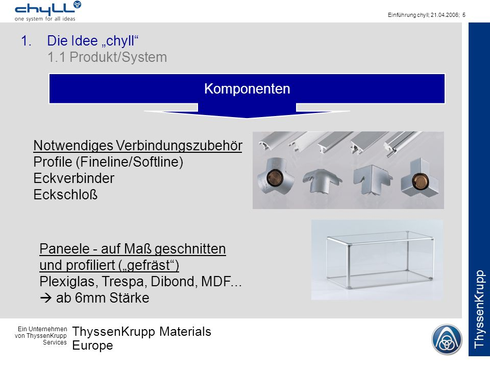 "1. Die Idee ""chyll 1.1 Produkt/System"