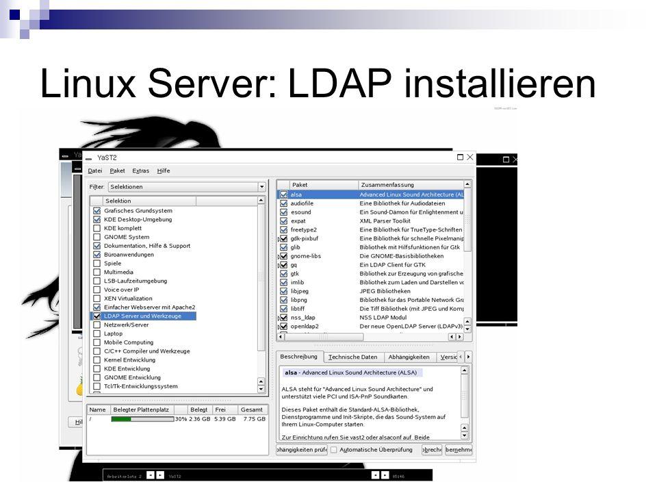 Linux Server: LDAP installieren