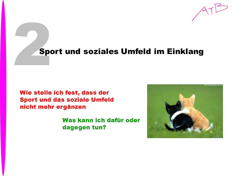 2 Sport und soziales Umfeld im Einklang