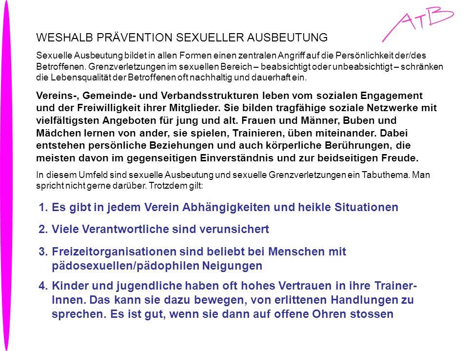 WESHALB PRÄVENTION SEXUELLER AUSBEUTUNG