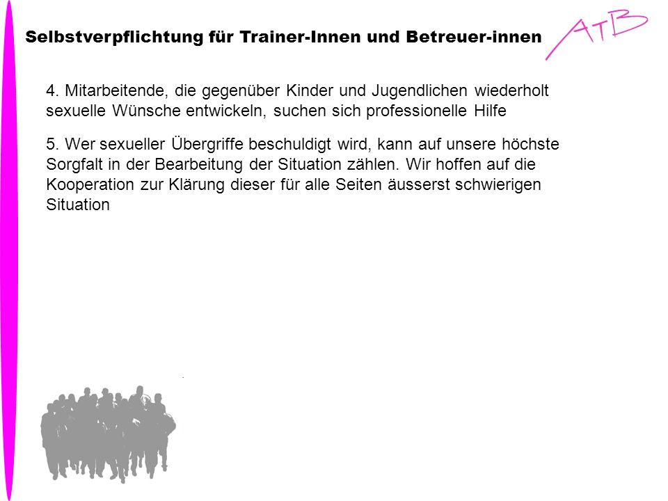 Selbstverpflichtung für Trainer-Innen und Betreuer-innen