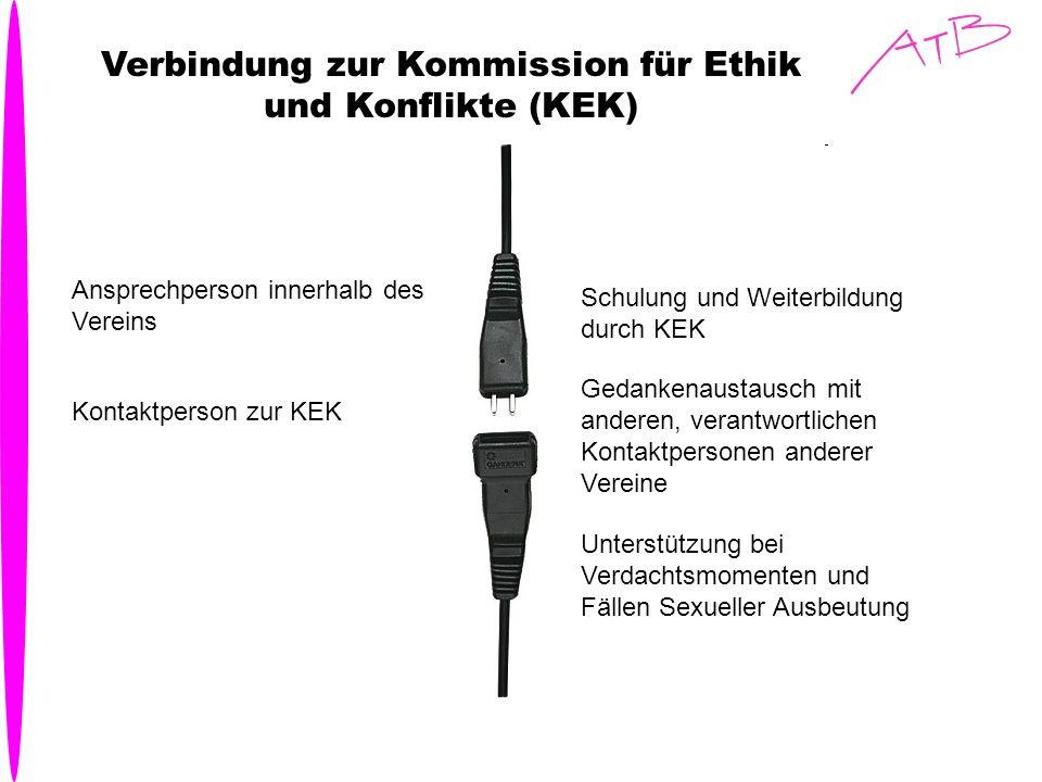 Verbindung zur Kommission für Ethik und Konflikte (KEK)