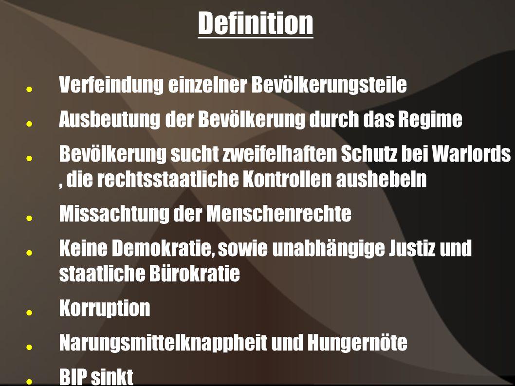 Definition Verfeindung einzelner Bevölkerungsteile