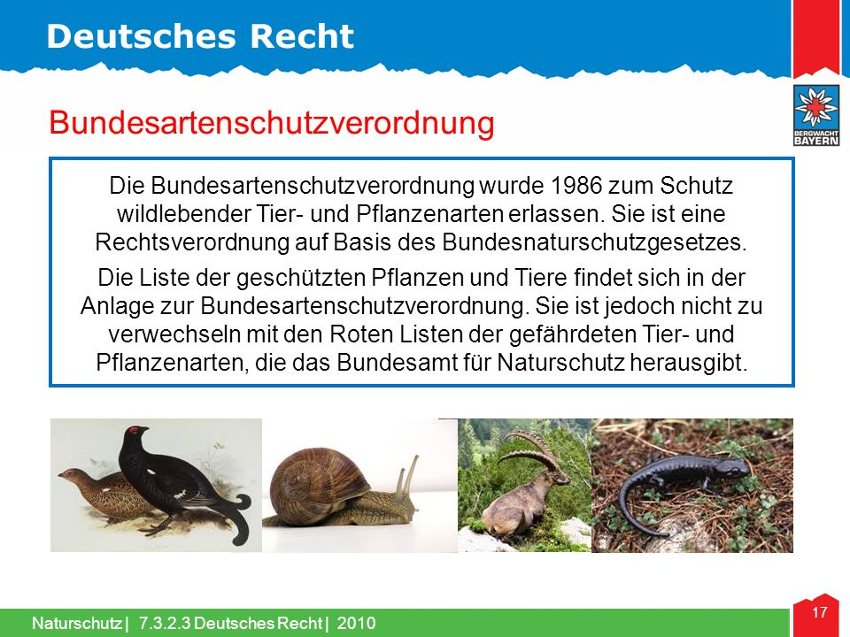 Bundesartenschutzverordnung