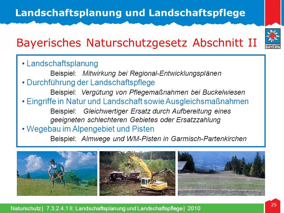 Bayerisches Naturschutzgesetz Abschnitt II