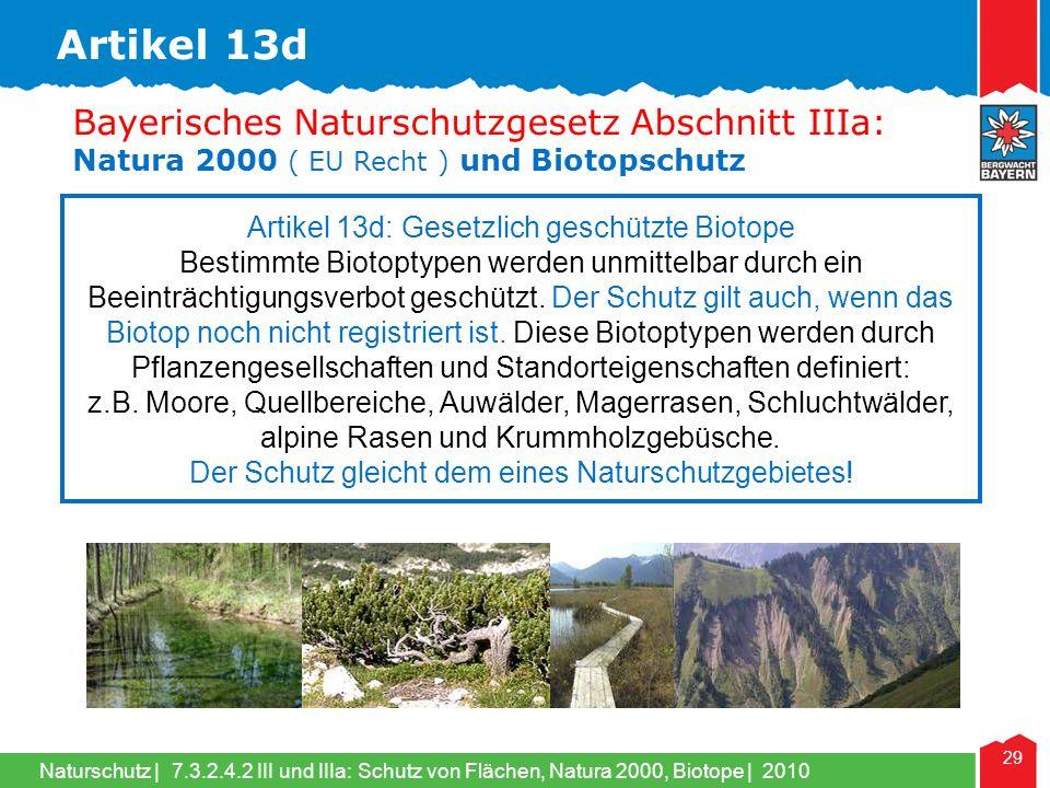 Artikel 13d Bayerisches Naturschutzgesetz Abschnitt IIIa: