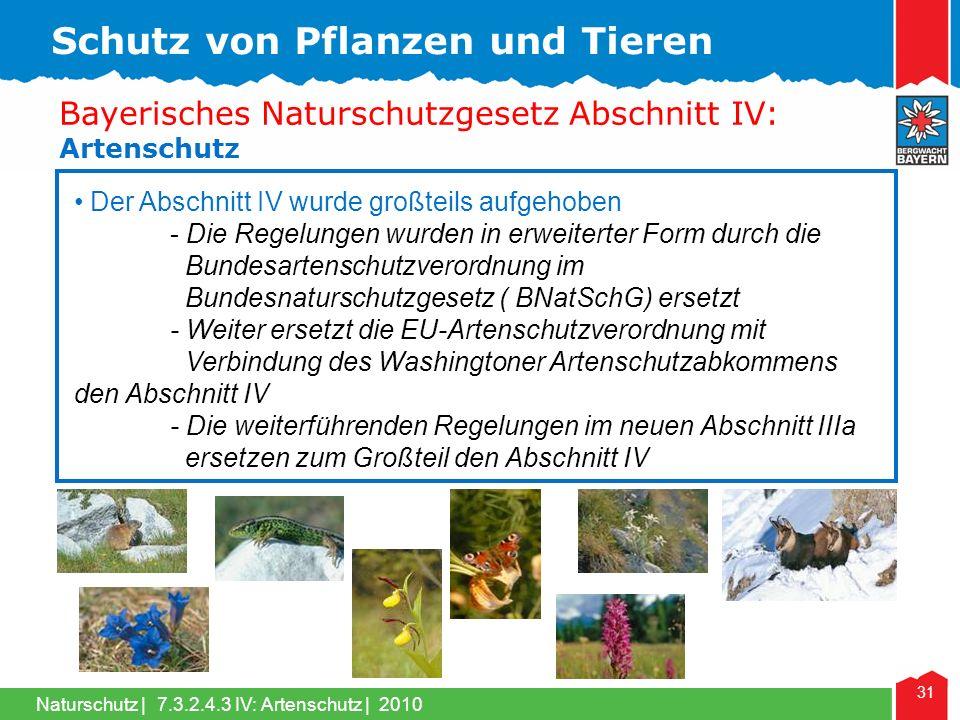 Schutz von Pflanzen und Tieren