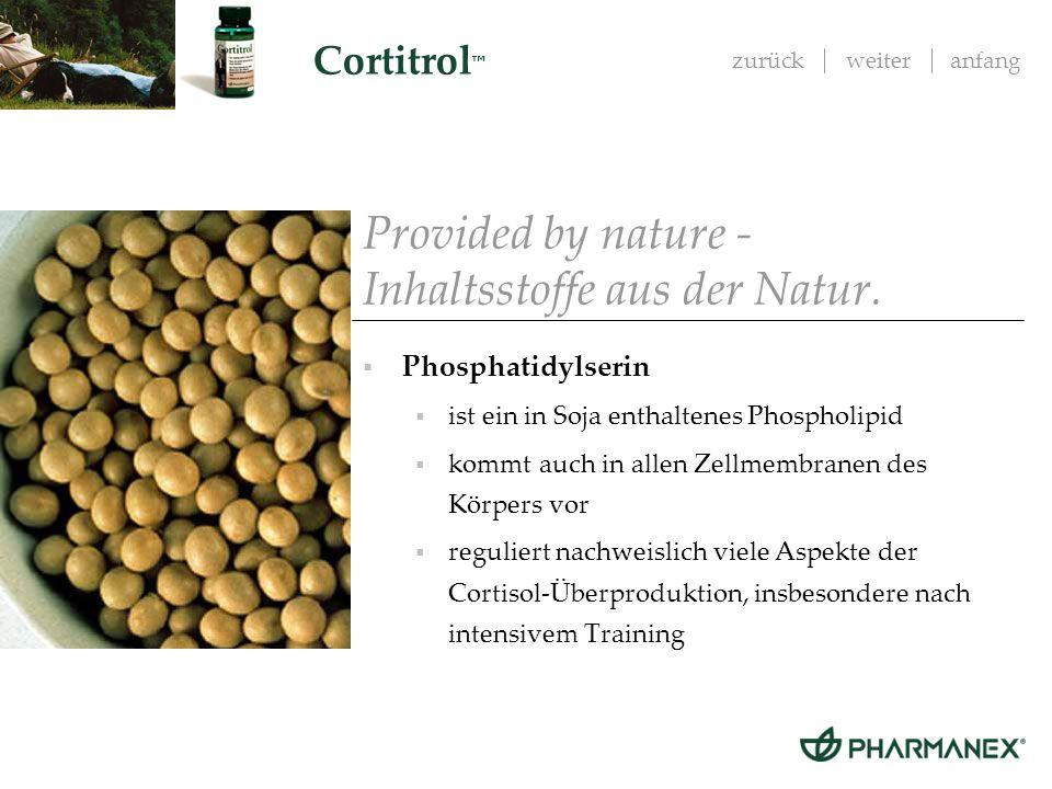 Provided by nature - Inhaltsstoffe aus der Natur.