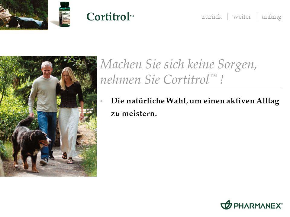 Machen Sie sich keine Sorgen, nehmen Sie Cortitrol™ !