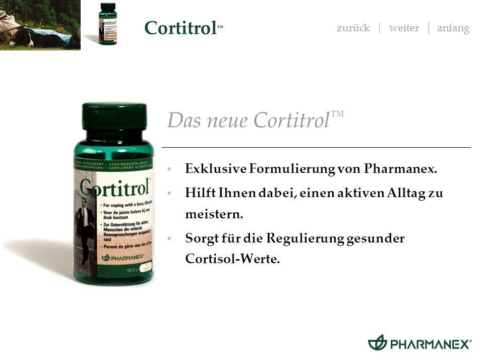 Das neue Cortitrol™ Exklusive Formulierung von Pharmanex.