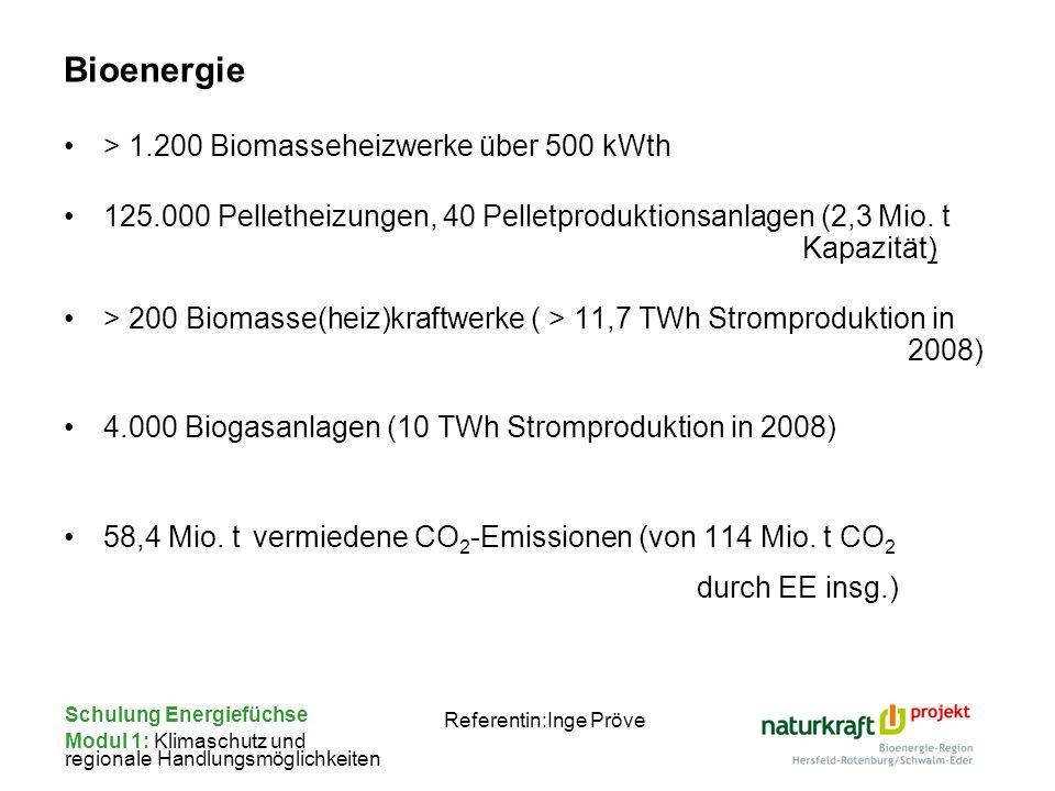 Bioenergie > 1.200 Biomasseheizwerke über 500 kWth