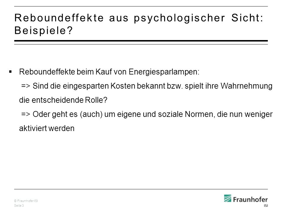 Reboundeffekte aus psychologischer Sicht: Beispiele