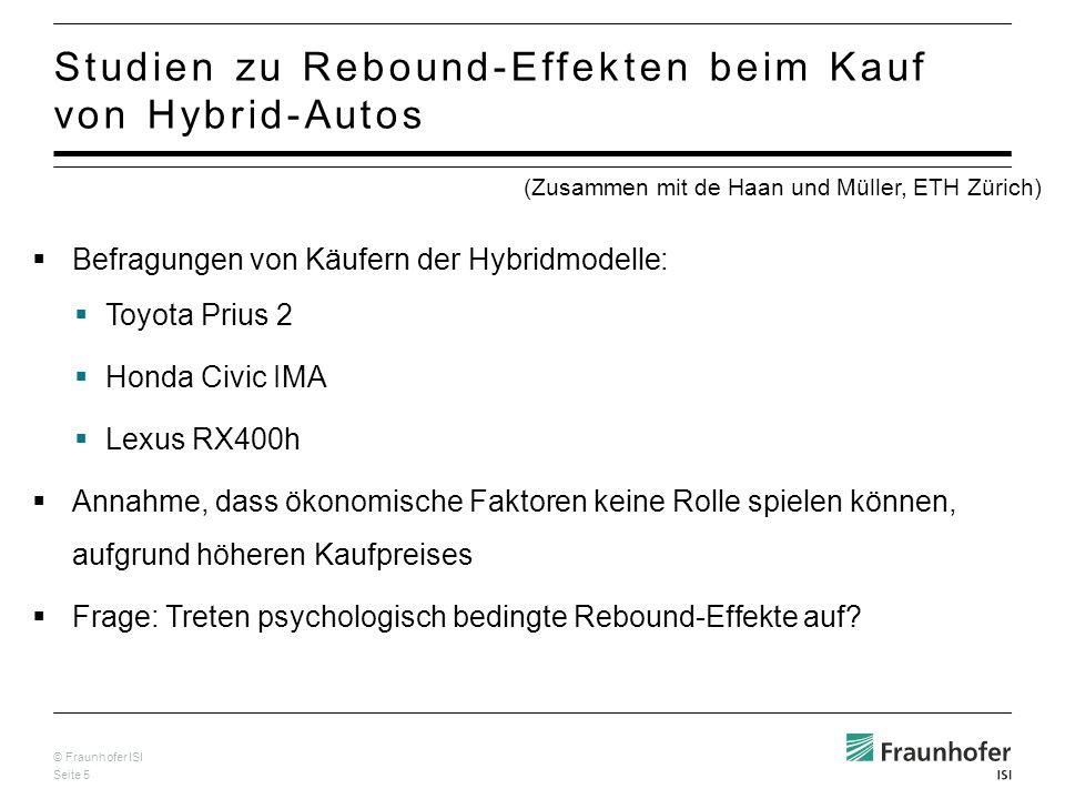 Studien zu Rebound-Effekten beim Kauf von Hybrid-Autos