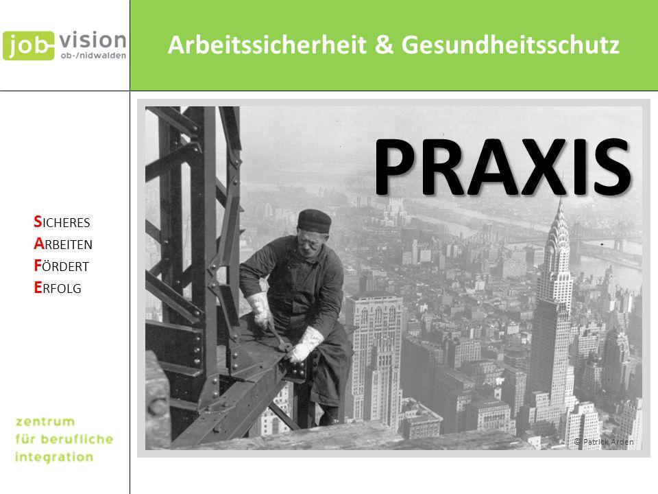 PRAXIS  Praxis bezogene Präsentation. © Patrick Arden