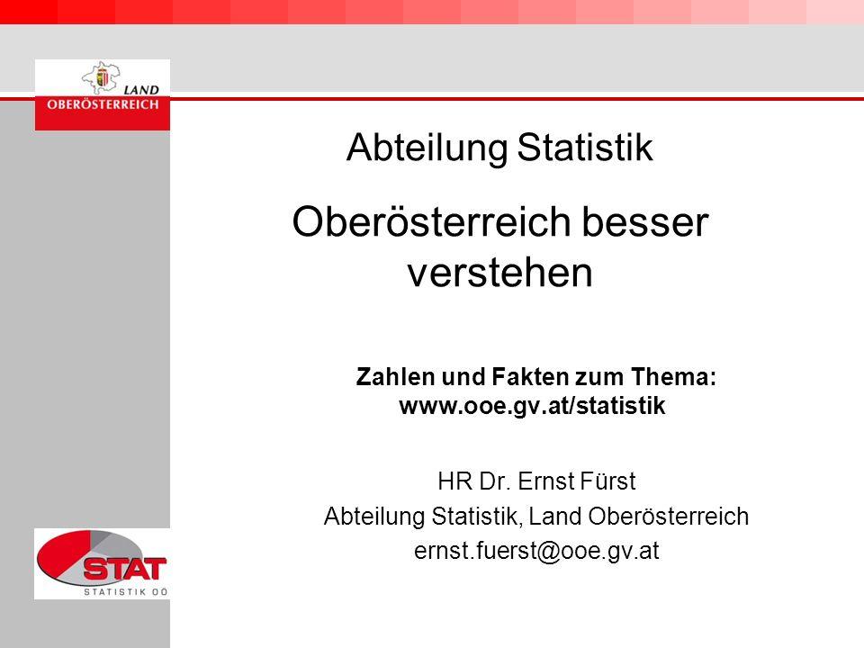 Abteilung Statistik Oberösterreich besser verstehen