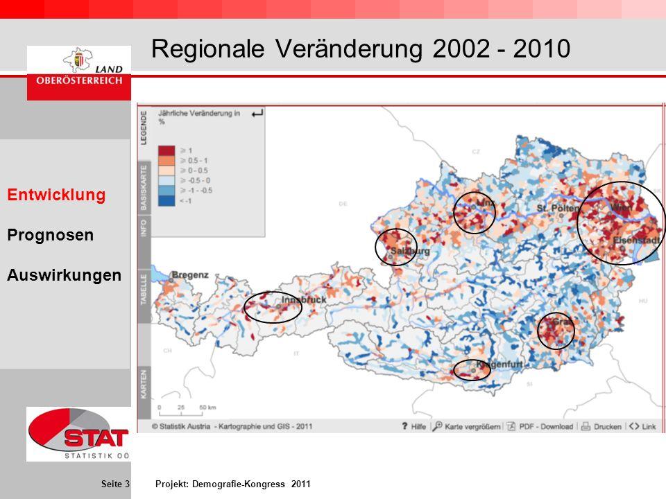 Regionale Veränderung 2002 - 2010