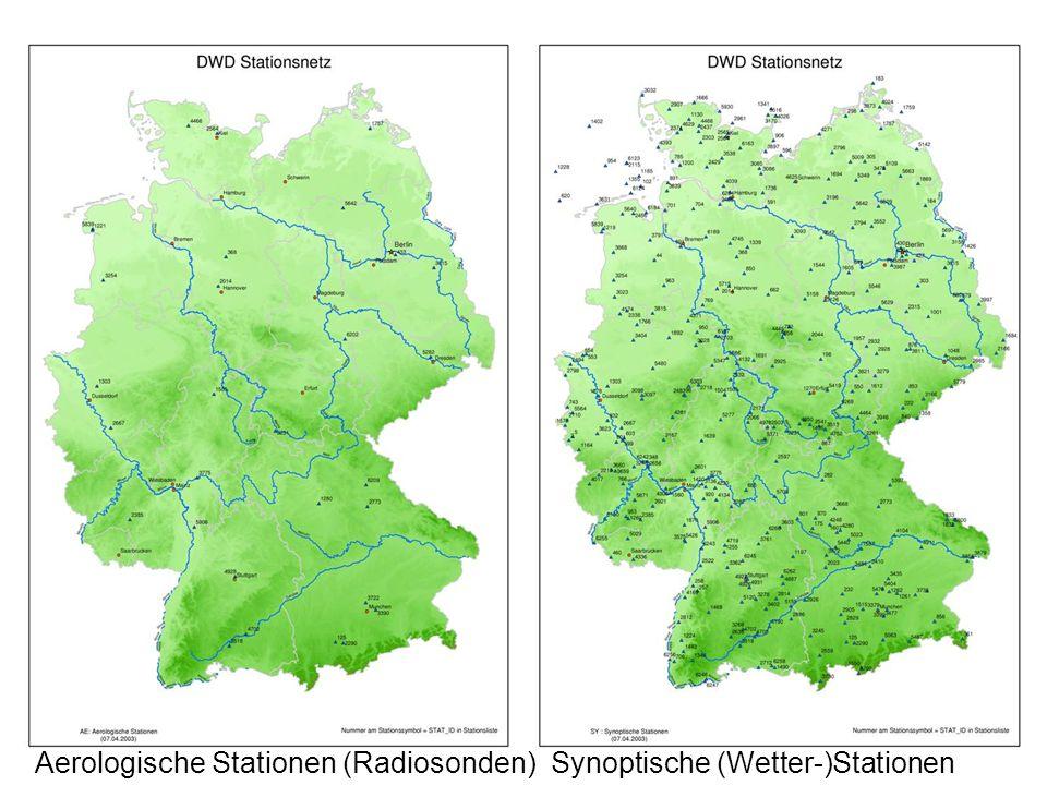 Aerologische Stationen (Radiosonden) Synoptische (Wetter-)Stationen