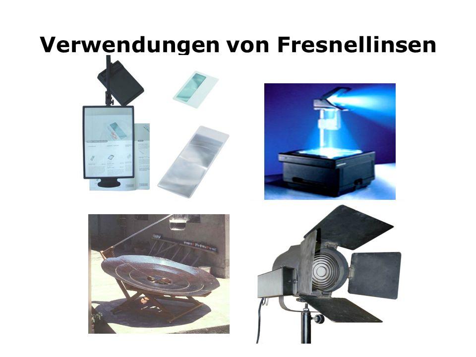 Verwendungen von Fresnellinsen