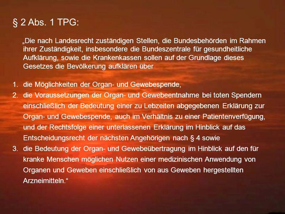 § 2 Abs. 1 TPG: