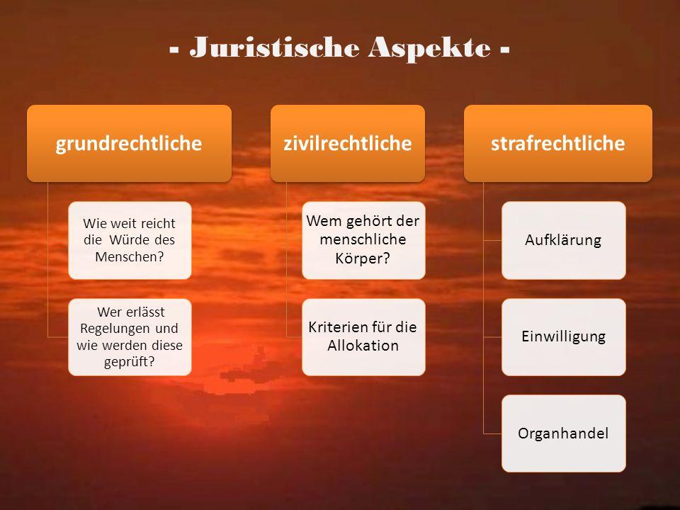 - Juristische Aspekte -