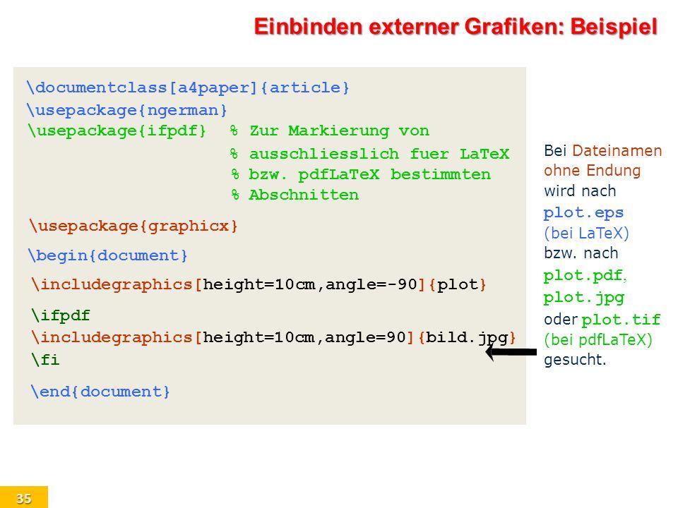 Einbinden externer Grafiken: Beispiel